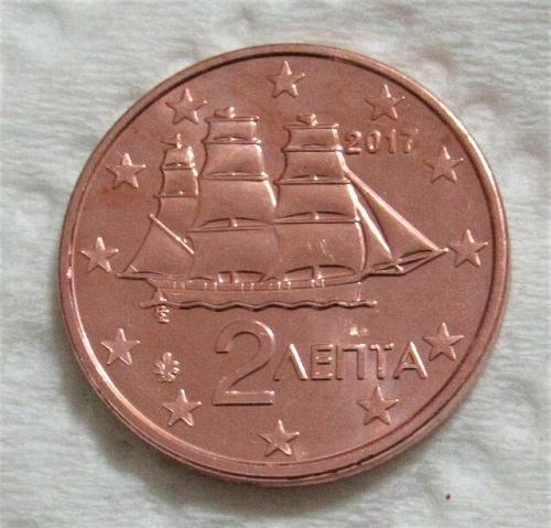Greece 1 cents euro uncirc. coins 2017