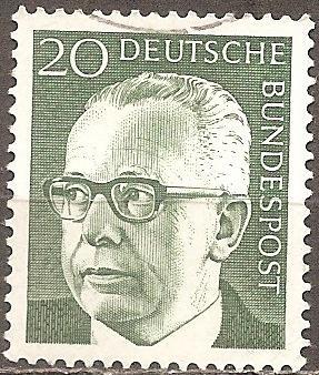 [GE1030] Germany: Sc. no. 1030 (1970) Used