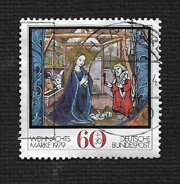 German Used Scott #B569 Catalog Value $.80
