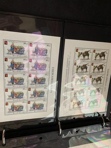 Belgium Themabelga 6 sheets mnh 1975 stamps