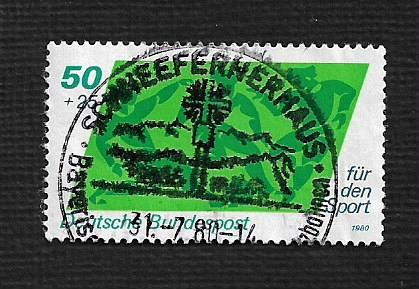 German Used Scott #B574 Catalog Value $.40