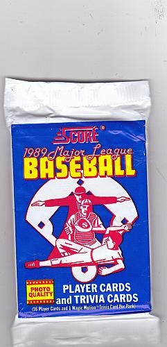 Score 1989 Baseball Cards Factory Sealed Pack