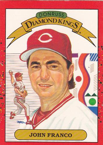 John Franco #14 - Reds 1990 Donruss Baseball Trading Card
