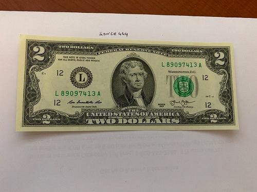 United States Jefferson $2 uncirc. banknote 2003 #10