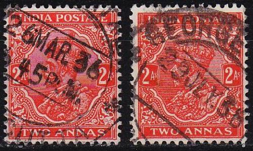INDIEN INDIA [1934] MiNr 0137 I,II ( O/used )