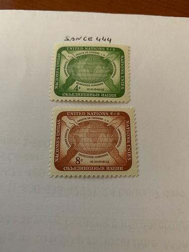 United Nations Human rights 1958 mnh stamps