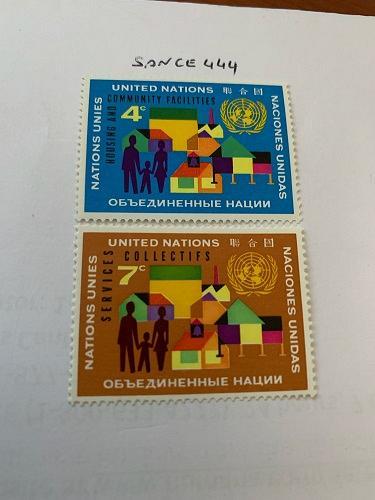 United Nations Building program 1962 mnh stamps