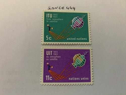 United Nations I.T.U. 1965 mnh stamps