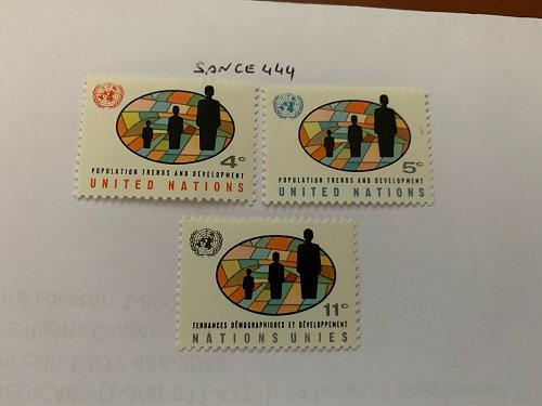 United Nations Population conference 1965 mnh stamps