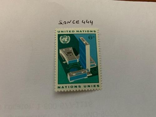 United Nations UNO building 1968 mnh stamps