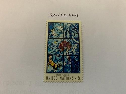 United Nations Chagall window 1967 mnh stamps