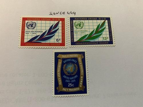United Nations 25 years UNO 1970 mnh stamps