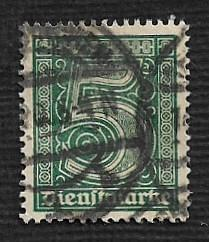 German Used #O1 Catalog Value $13.50