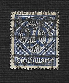 German Used #O5 Catalog Value $1.90