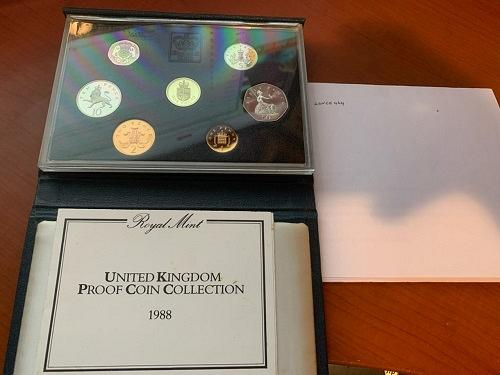 United Kingdom Proof set of coins 1988