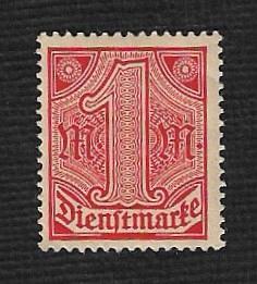 German MNH #O10 Catalog Value $1.05
