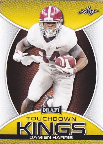 Damien Harris #88 - Patriots 2019 Gold Leaf Rookie Football Trading Card