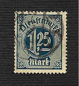 German Used #O11 Catalog Value $3.75