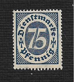 German MNH #O14 Catalog Value $.53