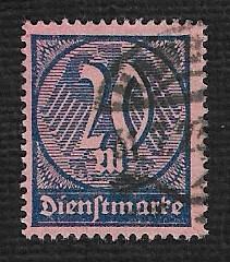 German Used Scott #O19 Catalog Value $1.50