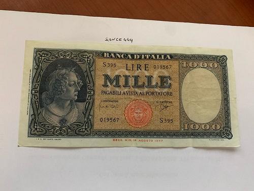 Italy Medusa Testina 1000 lire banknote 1947 #12