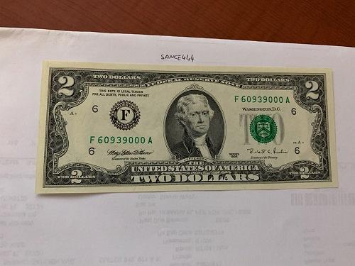 United States Jefferson $2 uncirc. banknote 1995 #7