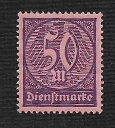 German MNH #O20 Catalog Value $.53