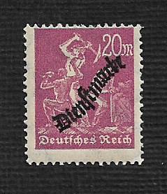 German MNH #O22 Catalog Value $.73