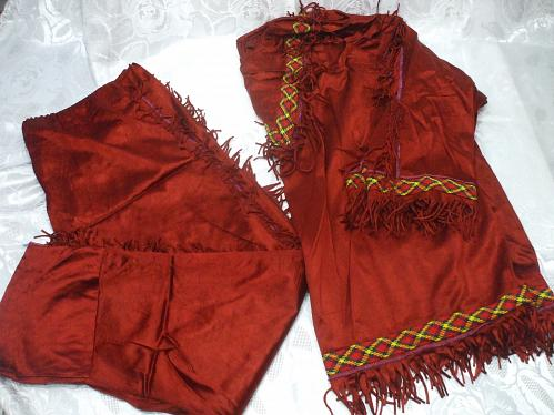 Large Native American Red Satin Costume