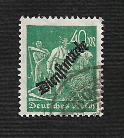 German Used #O24 Catalog Value $3.00