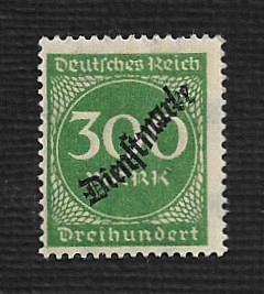 German MNH #O26 Catalog Value $.61