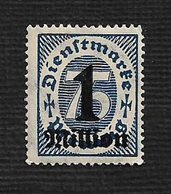 German MNH #O37 Catalog Value $.49