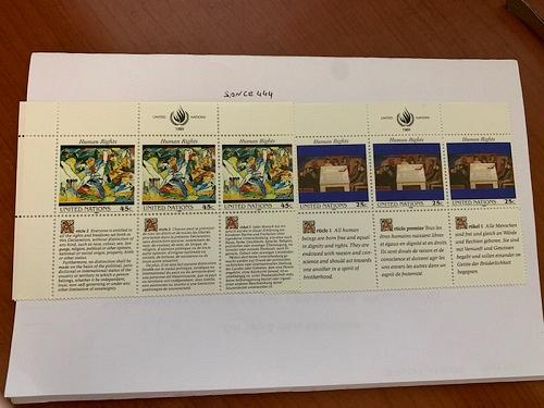 United Nations Human rights 1989 mnh stamps