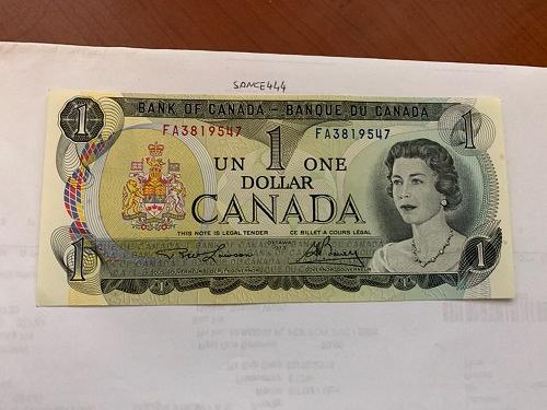 Canada one dollar uncirc. banknote 1973 #11