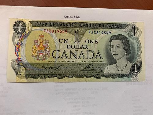 Canada one dollar uncirc. banknote 1973 #12