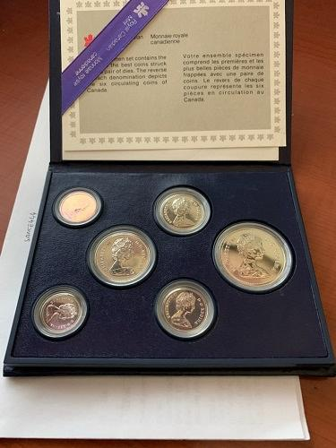 Canada mint set of coins 1984