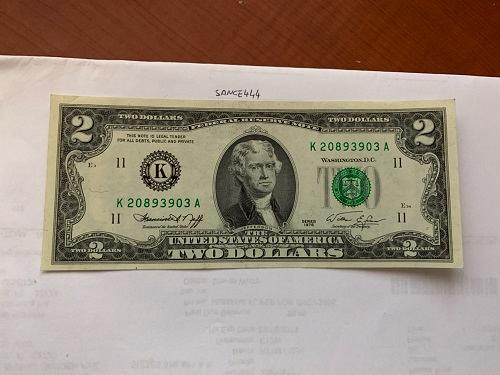 United States Jefferson $2 uncirc. banknote 1976 #8