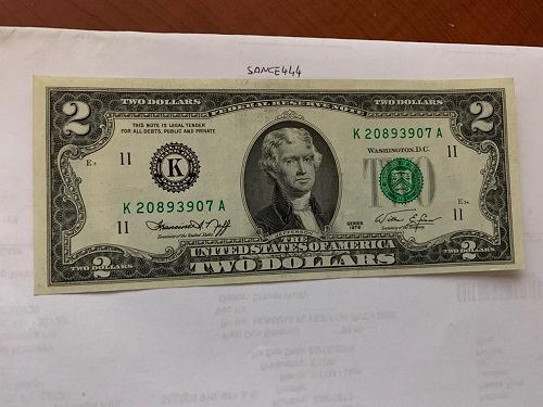 United States Jefferson $2 uncirc. banknote 1976 #12