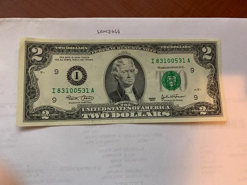 United States Jefferson $2 uncirc. banknote 2003 #8