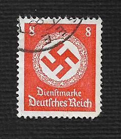 German Used #O96 Catalog Value $1.15