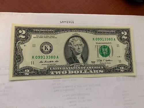 United States Jefferson $2 uncirc. banknote 2009 #3