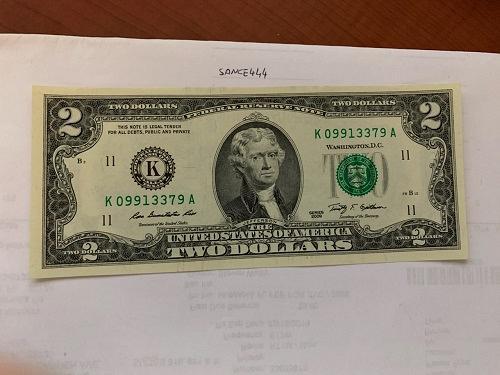 United States Jefferson $2 uncirc. banknote 2009 #4