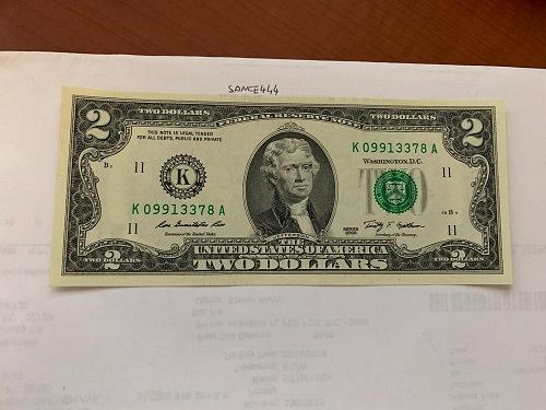 United States Jefferson $2 uncirc. banknote 2009 #5