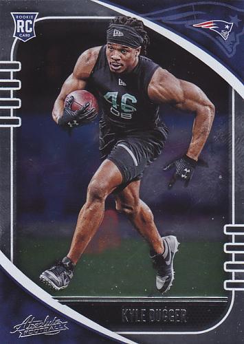 Kyle Dugger #175 - Patriots 2020 Panini Silver Foil Rookie Football Trading Card