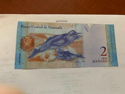 Venezuela 2 bolivares uncirc. banknote 2007