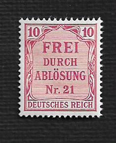 German MNH #OL4 Catalog Value $.48