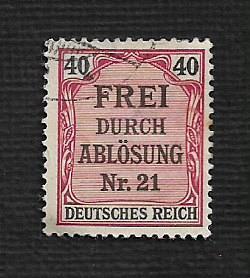 German Used #OL7 Catalog Value $2.00