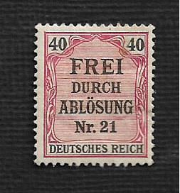Germany Hinged Scott #OL7 Catalog Value $.75