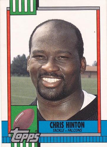 Chris Hinton #8T - Falcons 1990 Topps Football Trading Card