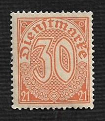 Germany Hinged Scott #OL13 Catalog Value $.25